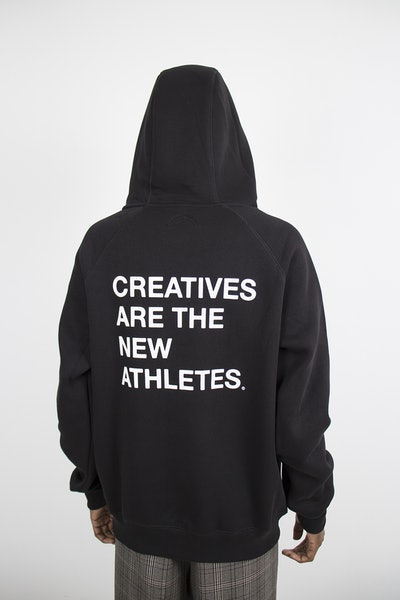 Placeholder for The New Originals Creatives Are The New Athletes Hoodie TNO CATNA HOODIE BLACK 3