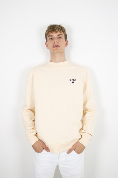 Placeholder for Arte Antwerp Colson Heart Sweater SS21 003 C CREME 2