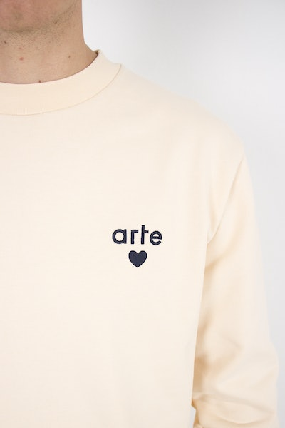 Placeholder for Arte Antwerp Colson Heart Sweater SS21 003 C CREME 3