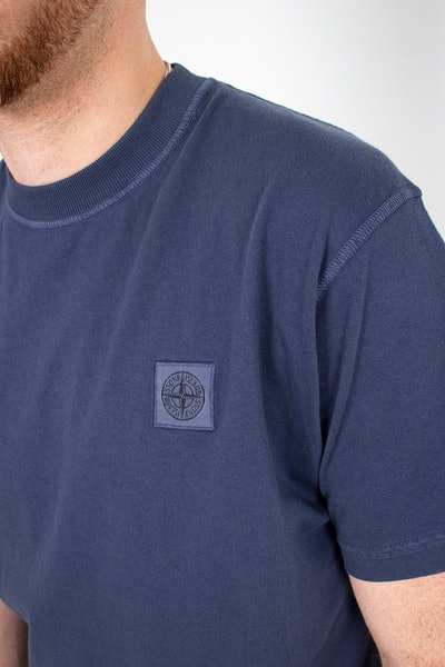 Placeholder for Stone Island2 Garment Dyed Patch Logo T Shirt MO741523757 V0124 3