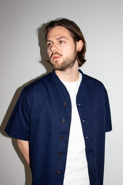 Placeholder for Universal Works ML Shirt 24178 Navy 4