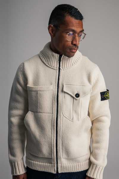 Placeholder for Stone Island Knitted Lambswool Cardigan MO7515548 A4 V0099 6