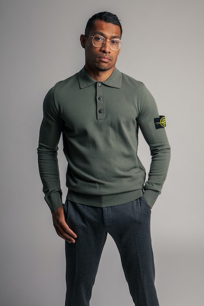 Placeholder for Stone Island Stretch Wool LS Polo MO7515512 A1 V0055 3