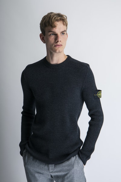 Placeholder for Stone island stretch wool crewneck mo7515521c2 v0065 1