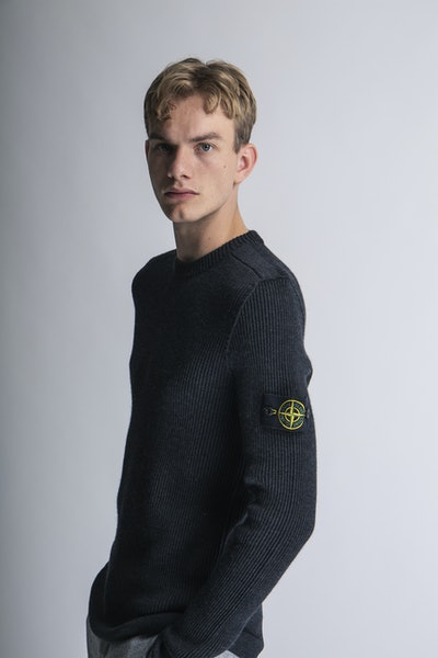 Placeholder for Stone island stretch wool crewneck mo7515521c2 v0065 2