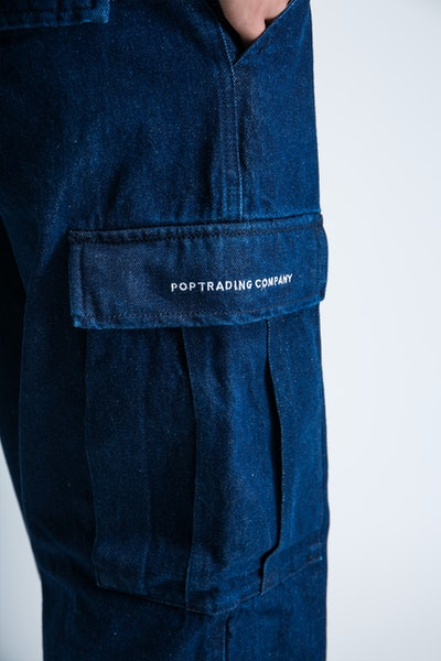 Placeholder for POP Trading Company Cargo Denim Pants AW21 04 005 4