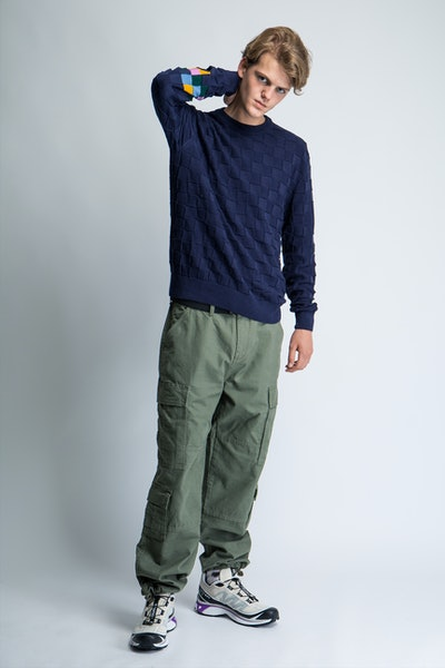 Placeholder for POP Trading Company Checked Panel Knit AW21 06 005 1