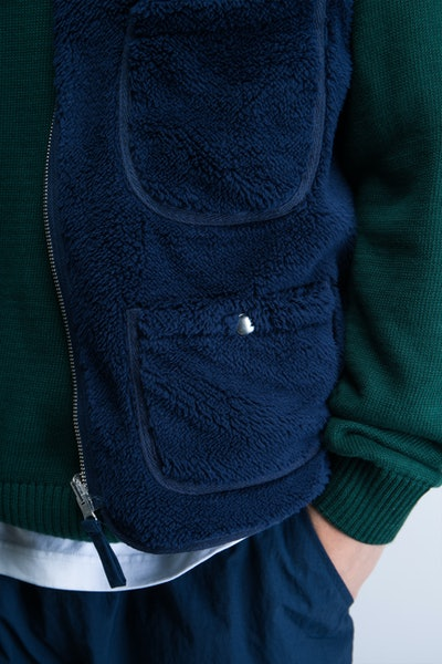 Placeholder for POP Trading Company Harold Reversible Vest AW21 03 006 4